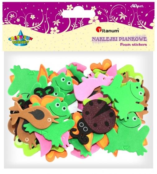 Dekoracje piankowe kreatywne wąż/żaba/motyl/biedronka 25/40mm 40szt