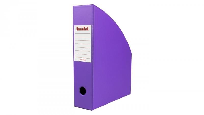 Pojemnik na czasopisma 7cm fioletowy Biurfol