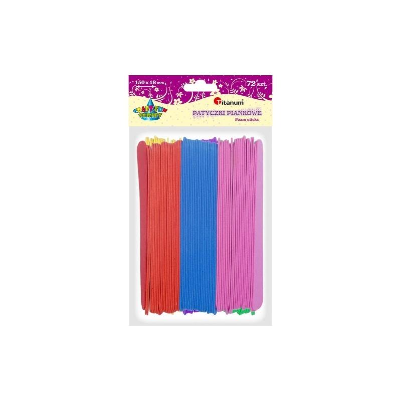 Patyczki piankowe szpatułki kolorowe A`72 15x1,8cm