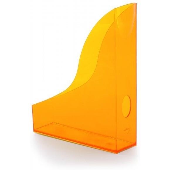 Pojemnik na czasopisma Basic A4 pomarańczowy - przezroczysty Durable