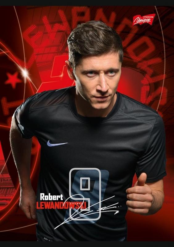 Zeszyt A5/16k trzylinia kolor  Robert Lewandowski