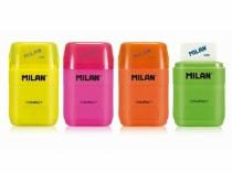 Temperówka podwójna z gumką Compact Fluo Milan