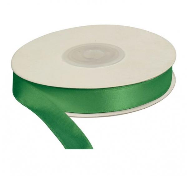 Wstążka satynowa dekoracyjna zielone jabłko 12mm/25m