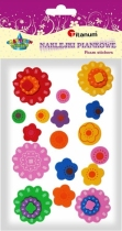 Naklejki piankowe kreatywne kwiaty 15-45mm 17szt