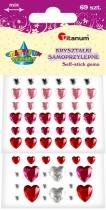 Kryształki dekoracyjne samoprzylepne kreatywne serca 69szt