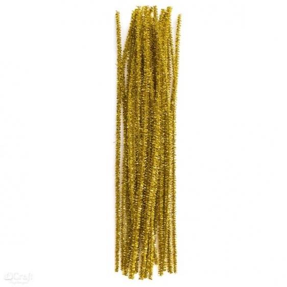 Druciki kreatywne  30cm op.25szt złote Dalprint