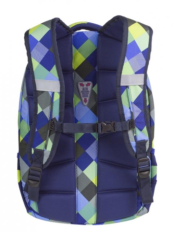 Plecak młodzieżowy Coolpack College Blue Patchwork