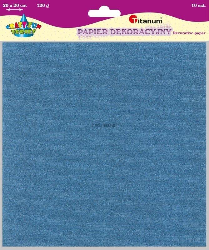Papier dekoracyjny 20x20 cm 120g A`10 Zestaw 3