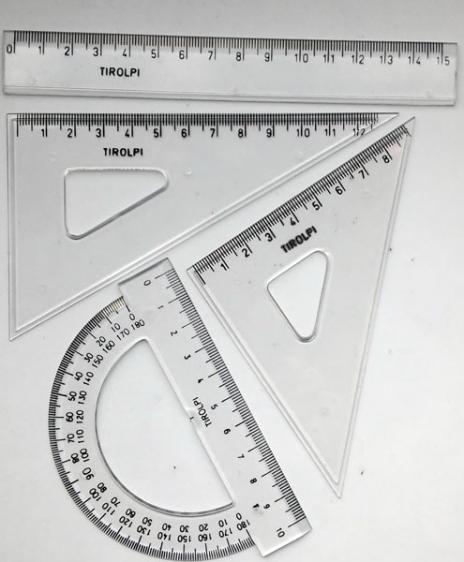 Zestaw przyborów geometrycznych szkolny KPL 23 4 el.