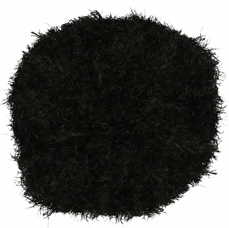 Pompony akrylowe czarne 2,5cm A`30