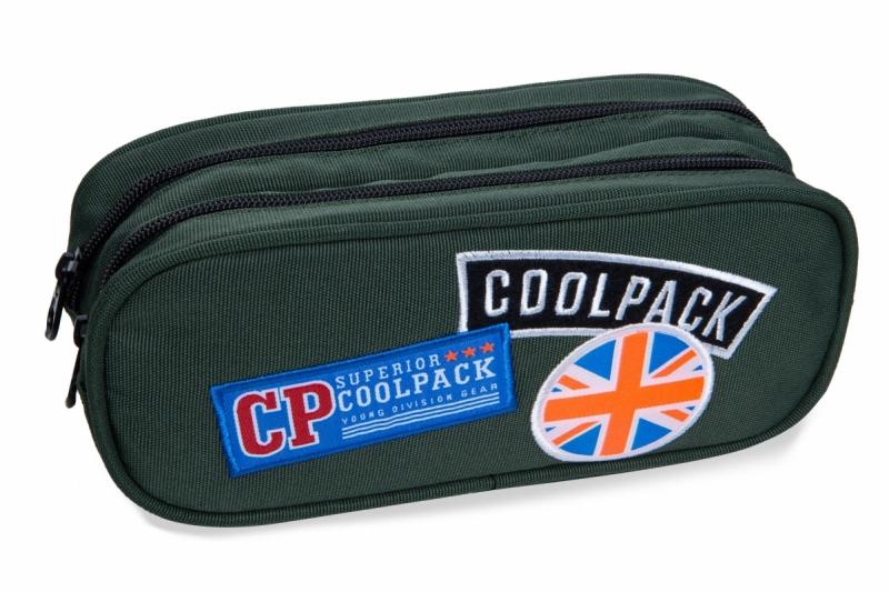 Saszetka podwójna Coolpack Clever  Badges Green