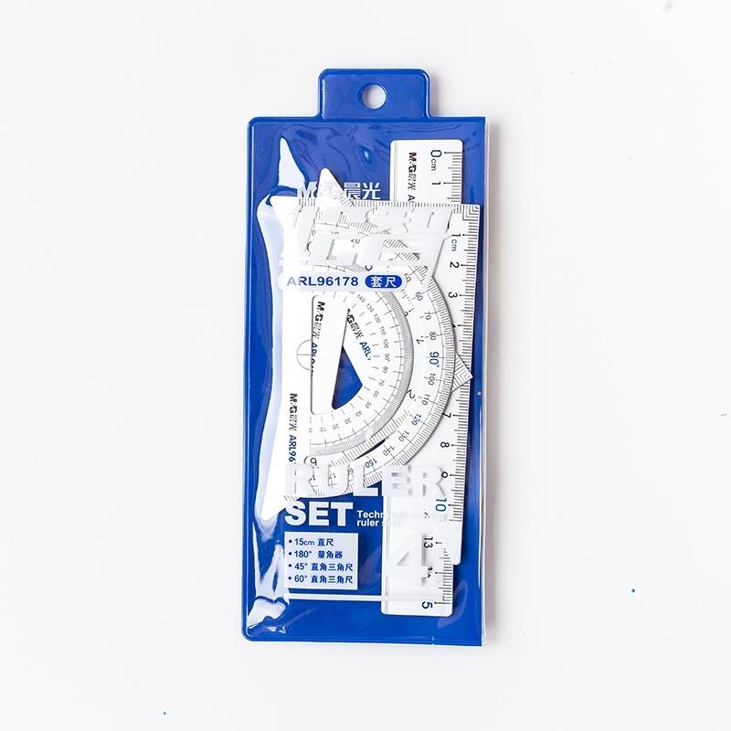 Zestaw geometryczny aluminiowy 15cm M&G