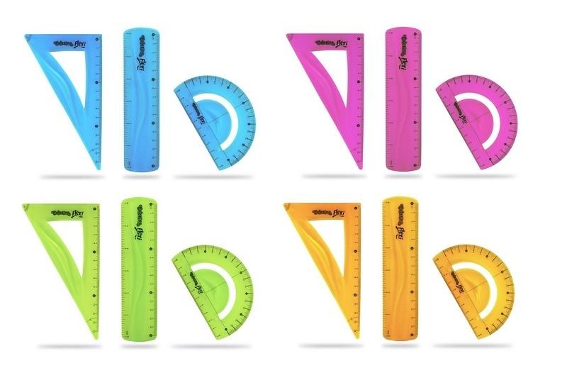 Zestaw geometryczny  3-el 15cm Flexi Colorino