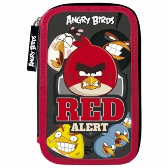 Piórnik trójkomorowy z wyposażeniem Angry Birds 11