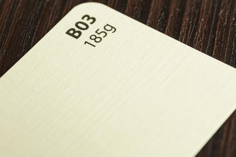 Papier ozdobny kremowy o fakturze tkaniny lnianej A4/20 B03 185g