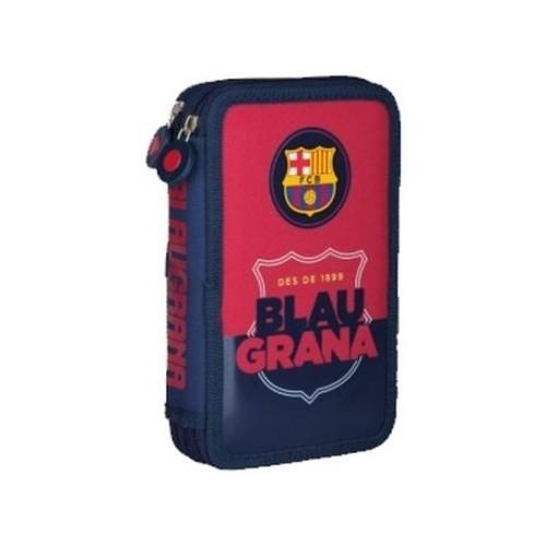 Piórnik podwójny z wyposażeniem FC Barcelona Barca Fan 4 FC-90