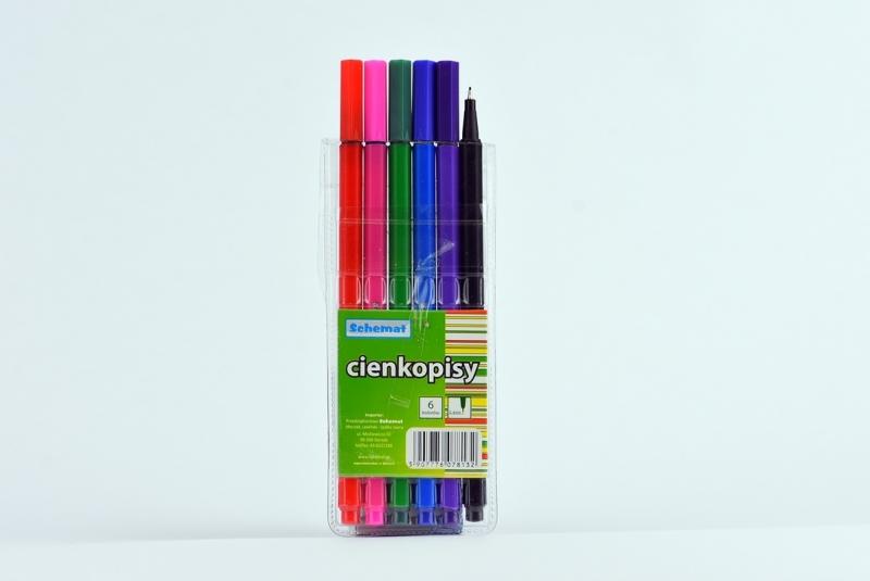 Cienkopisy Schemat 0.4mm 6 kolorów