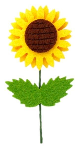 Dekoracje filcowe 3D słoneczniki A`6